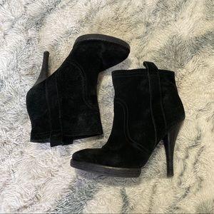 BCBGeneration Black Suede High Heel Bootie size 7